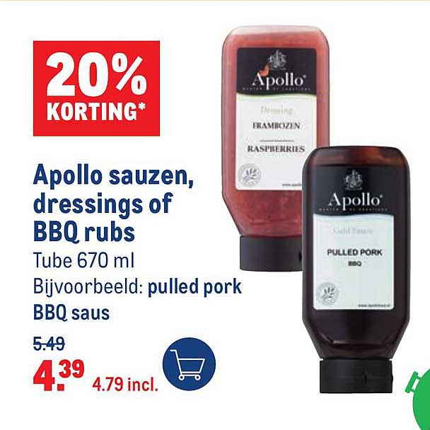 Makro Apollo Sauzen, Dressings Of BBQ Rubs 20% Korting