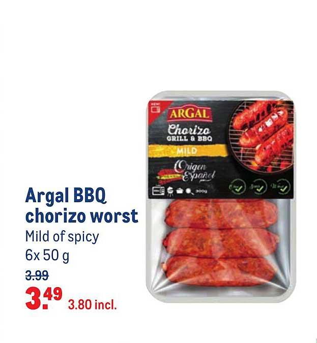 Makro Argal BBQ Chorizo Worst Mild Of Spicy