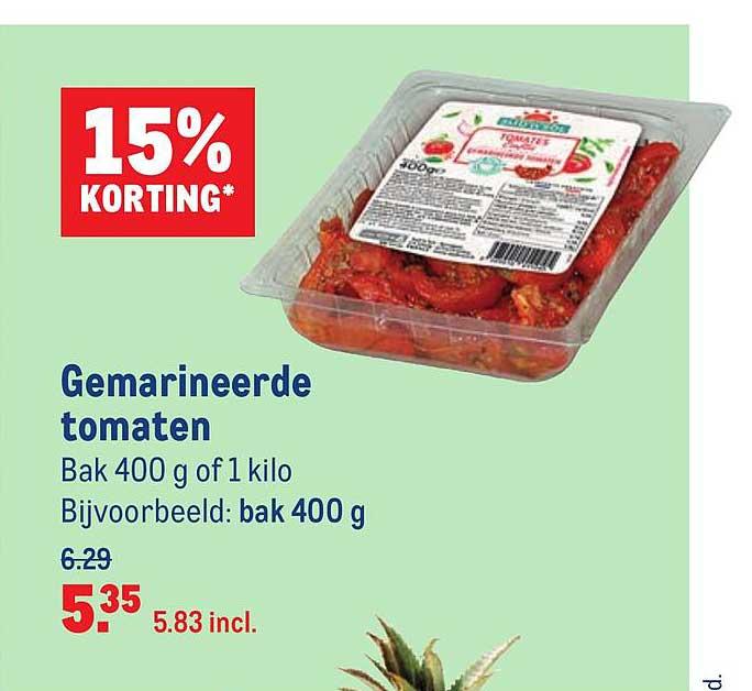 Makro Gemarineerde Tomaten 15% Korting