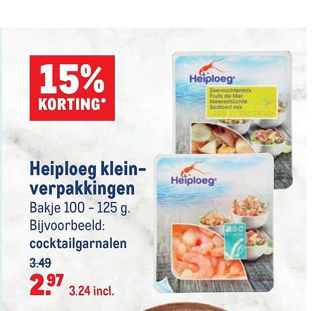 Makro Heiploeg Kleinverpakkingen 15% Korting