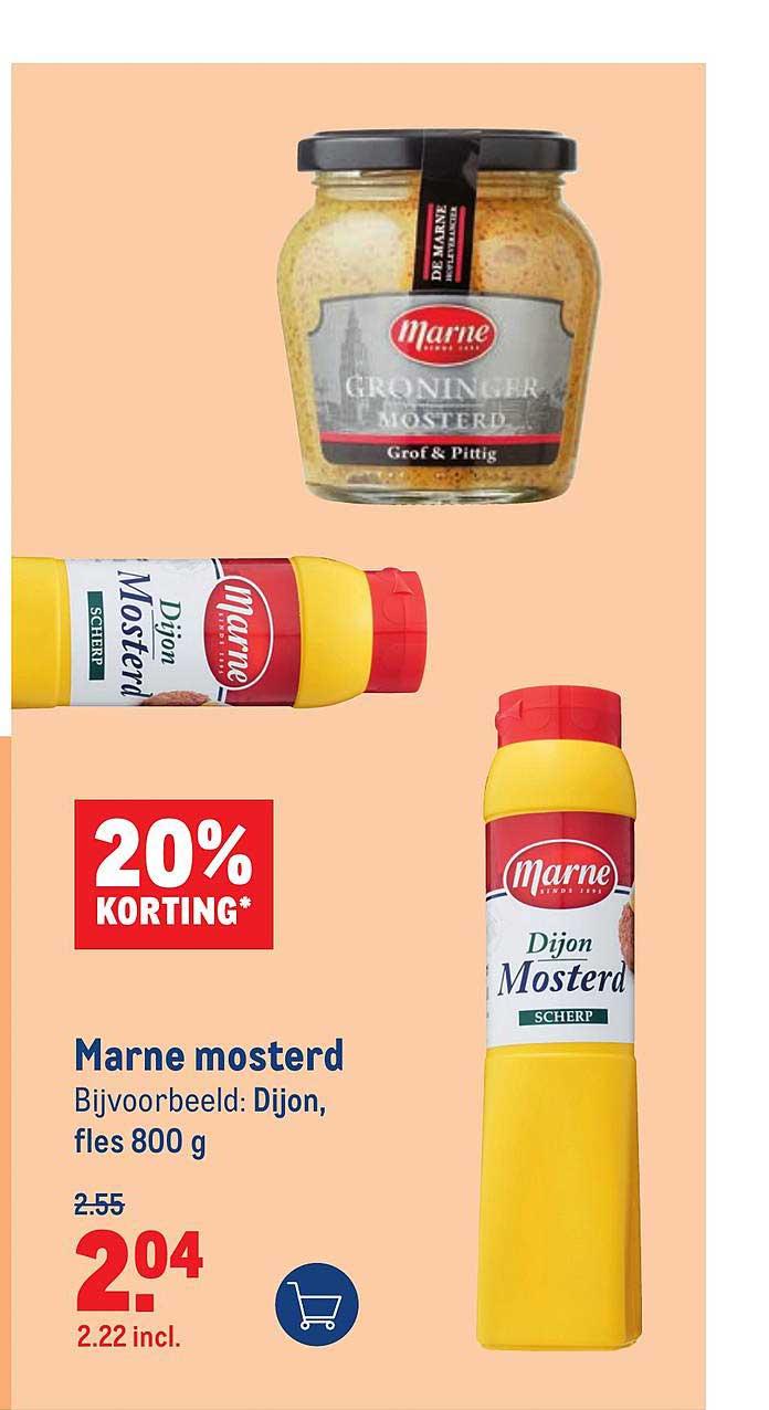 Makro Marne Mosterd 20% Korting