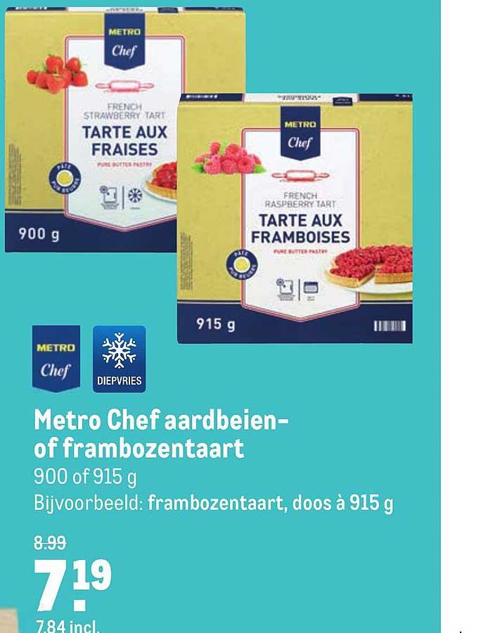 Makro Metro Chef Aardbeien- Of Frambozentaart