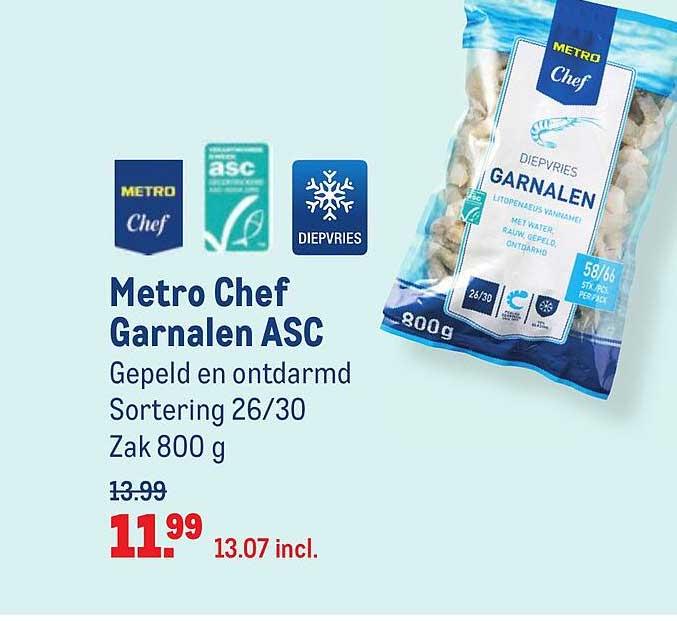 Makro Metro Chef Garnalen ASC