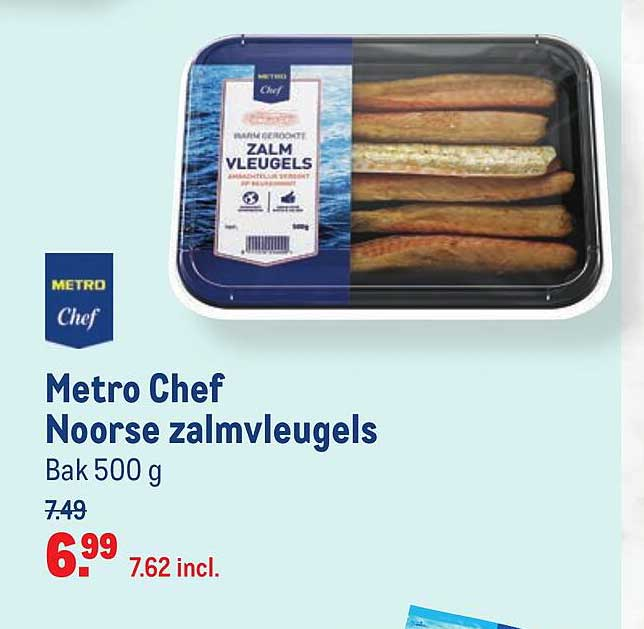 Makro Metro Chef Noorse Zalmvleugels