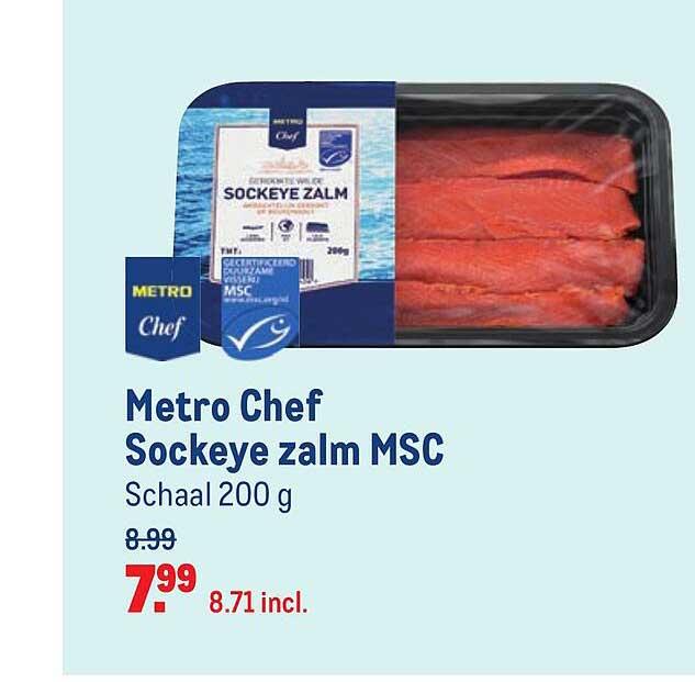 Makro Metro Chef Sockeye Zalm MSC