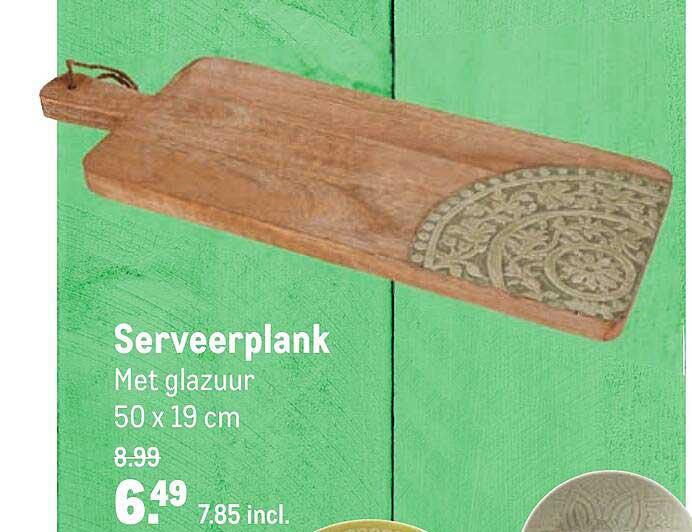 Makro Serveerplank Met Glazuur 50 X 19 Cm