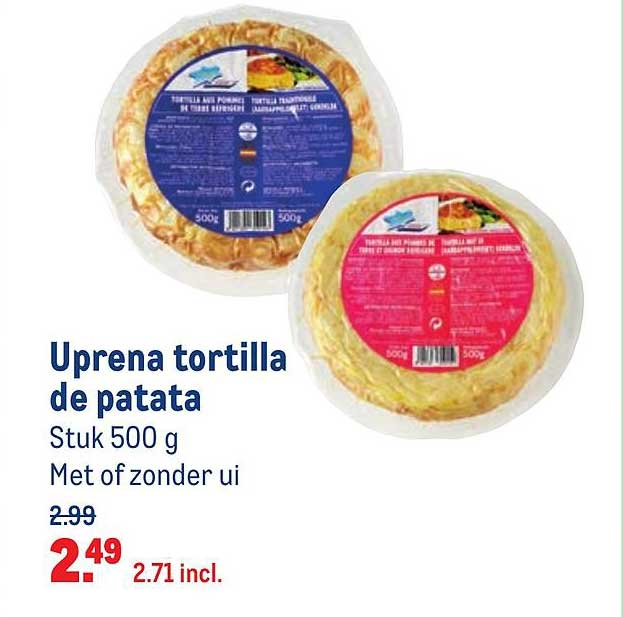 Makro Uprena Tortilla De Patata