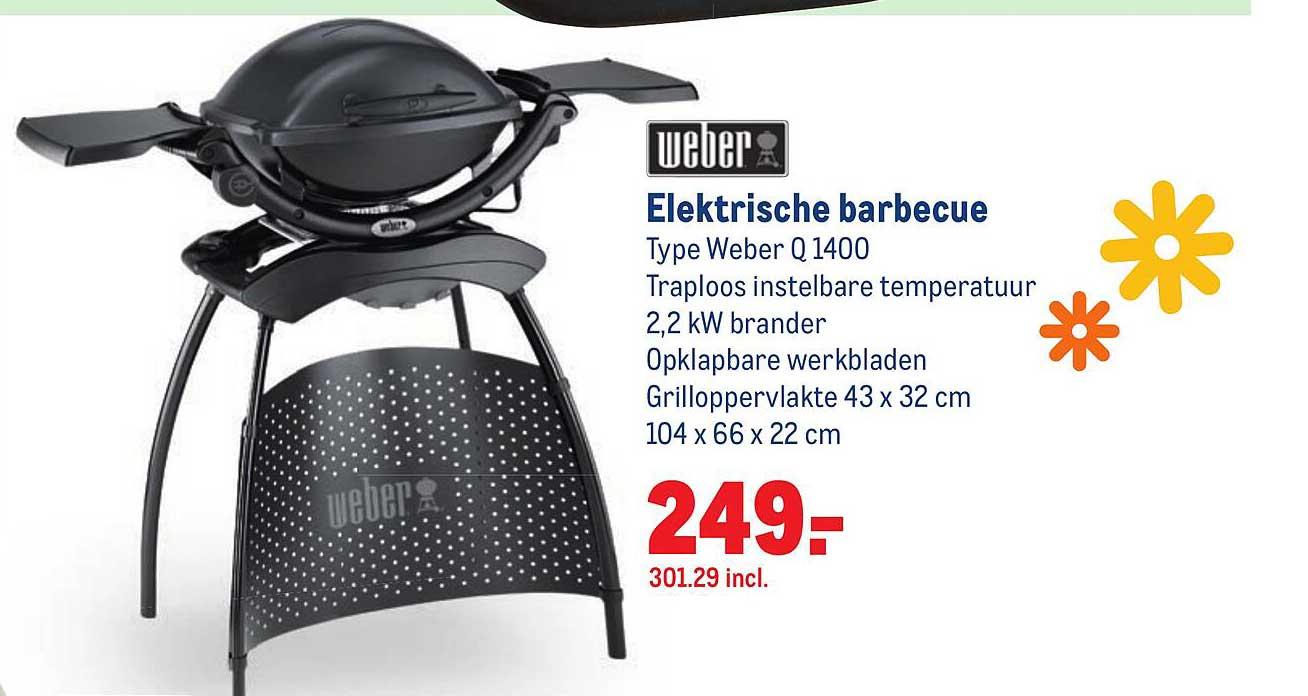 Makro Weber Elektrische Barbecue Weber Q 1400