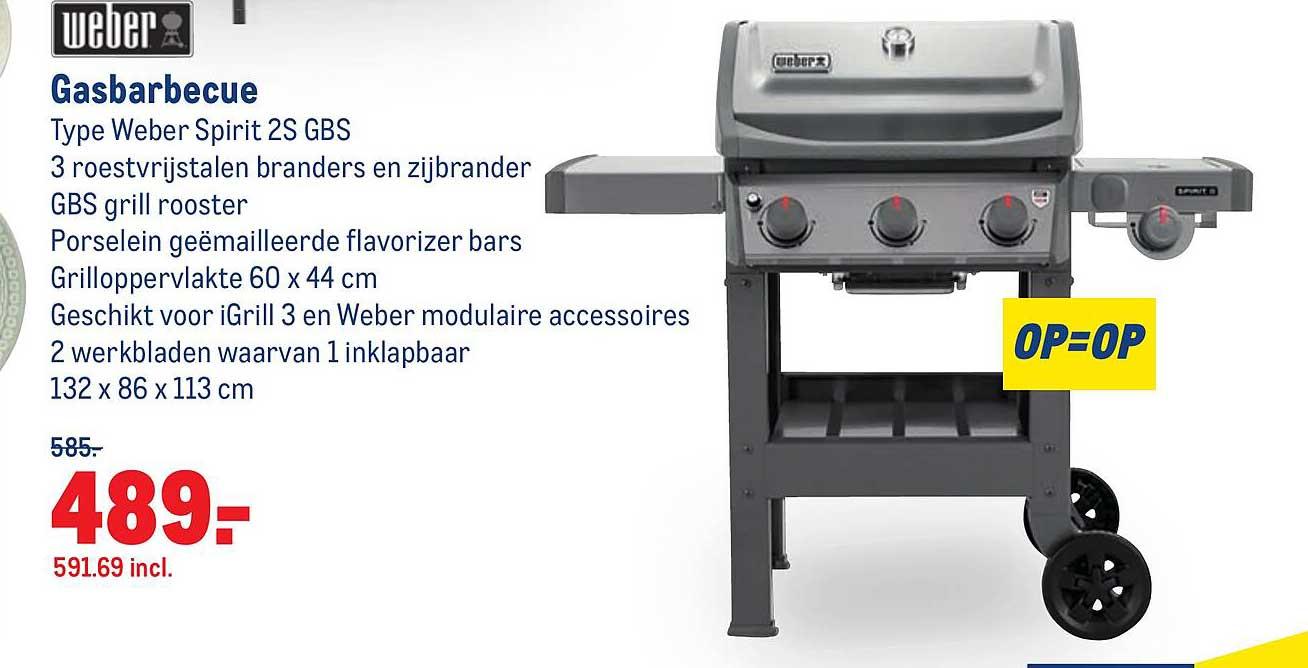 Makro Weber Gasbarbecue Weber Spirit 2S GBS