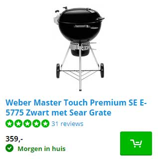 Coolblue Weber Master Touch Premium SE E5775 Zwart Met Sear Grate