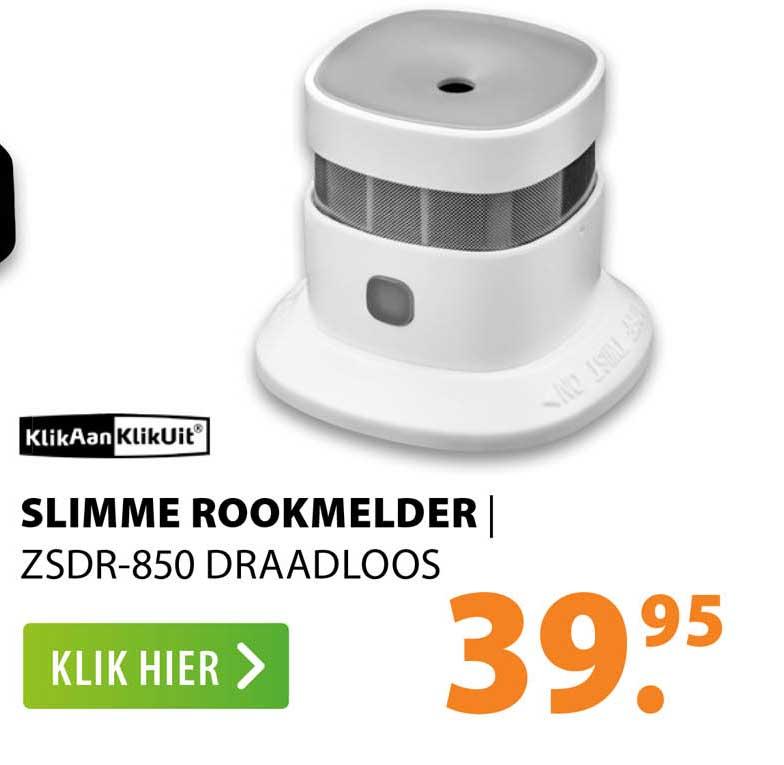 Expert KlikAanKlikUit Slimme Rookmelder   ZSDR-850 Draadloos