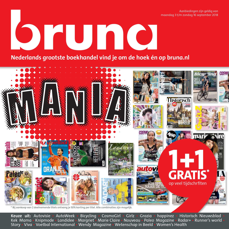 Bruna 1+1 Gratis Op Veel Tijdschriften
