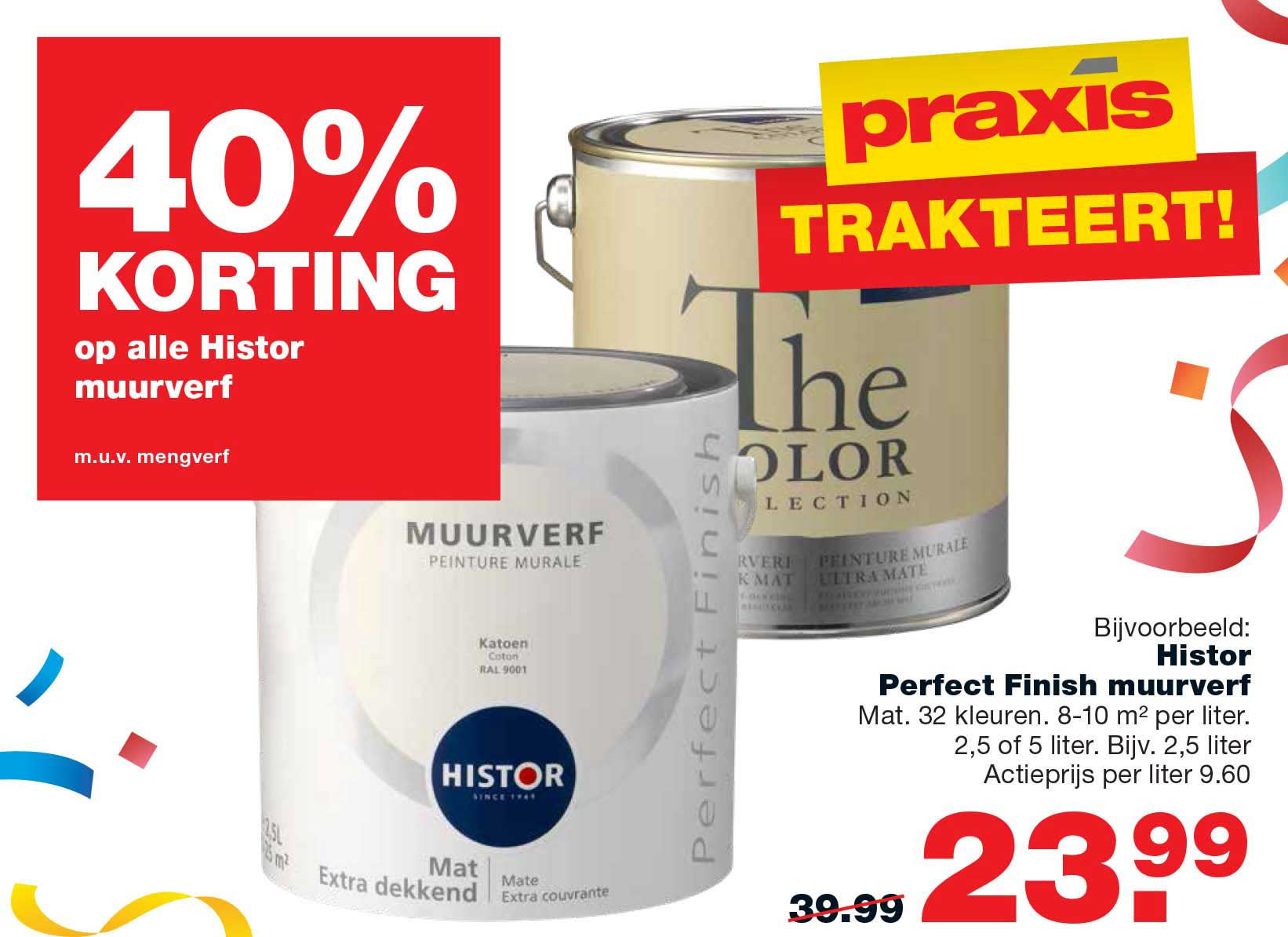 Praxis 40% Korting Op Alle Histor Muurverf