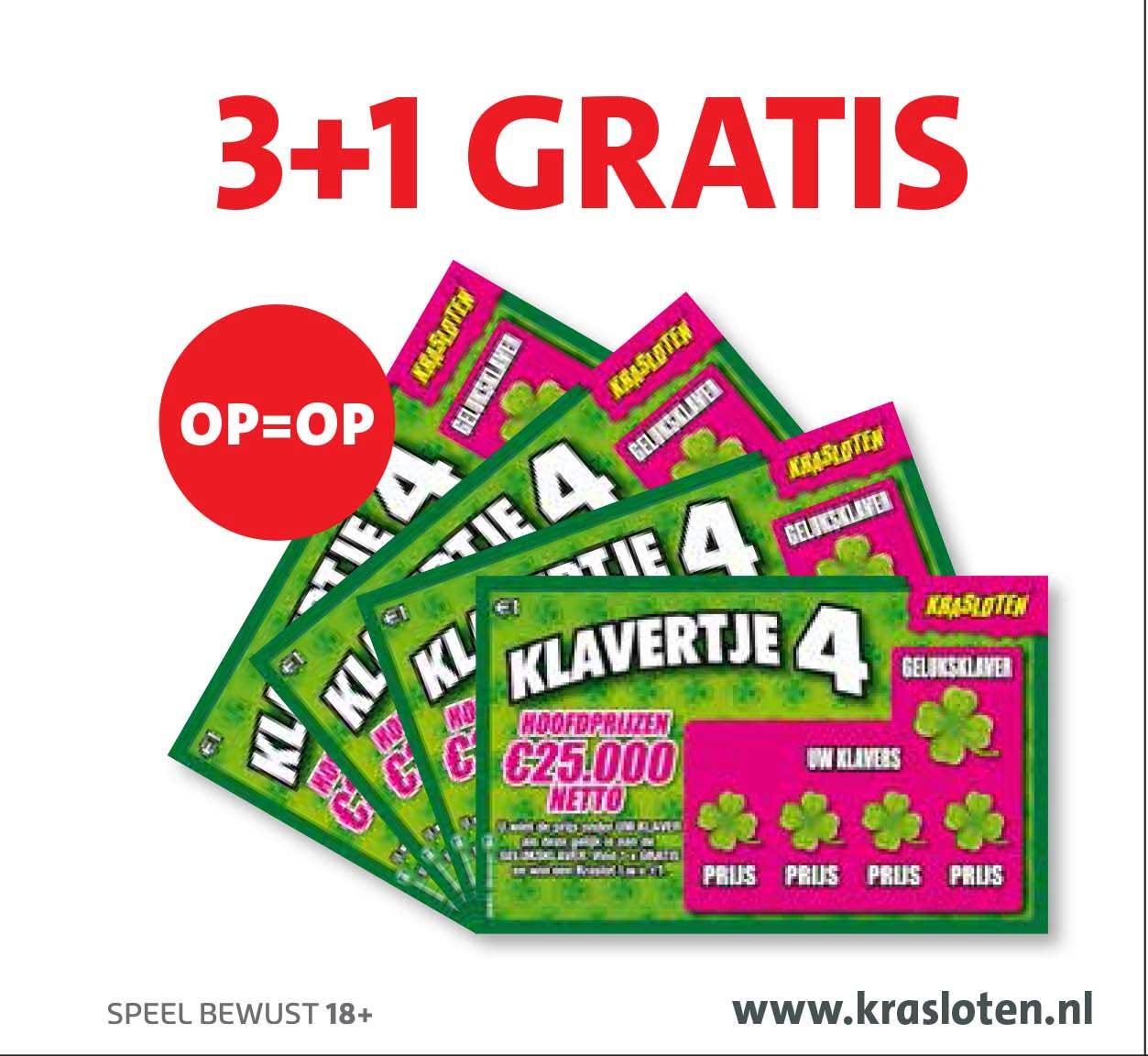 Bruna Klavertje 4 Krasloten: 3+1 Gratis