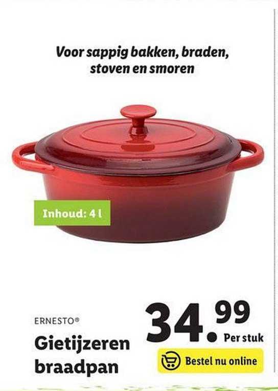 Lidl Shop Ernesto Gietijzeren Braadpan