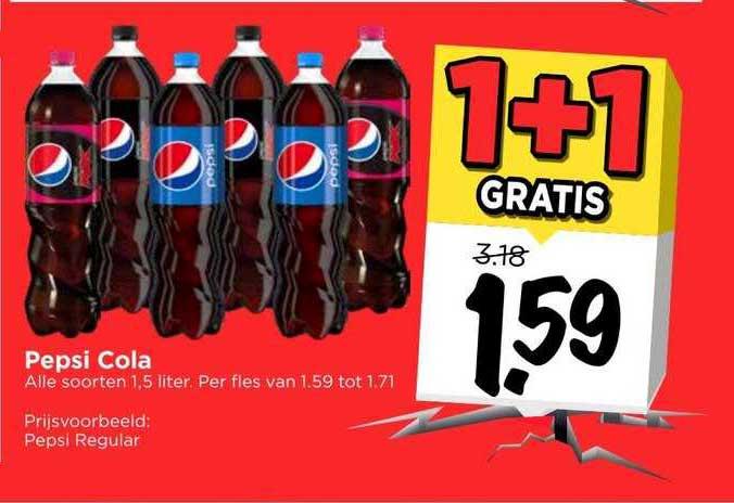 Vomar Pepsi Cola 1+1 Gratis