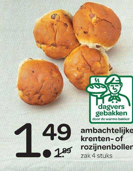 Spar Ambachtelijke Krenten- Of Rozijnenbollen