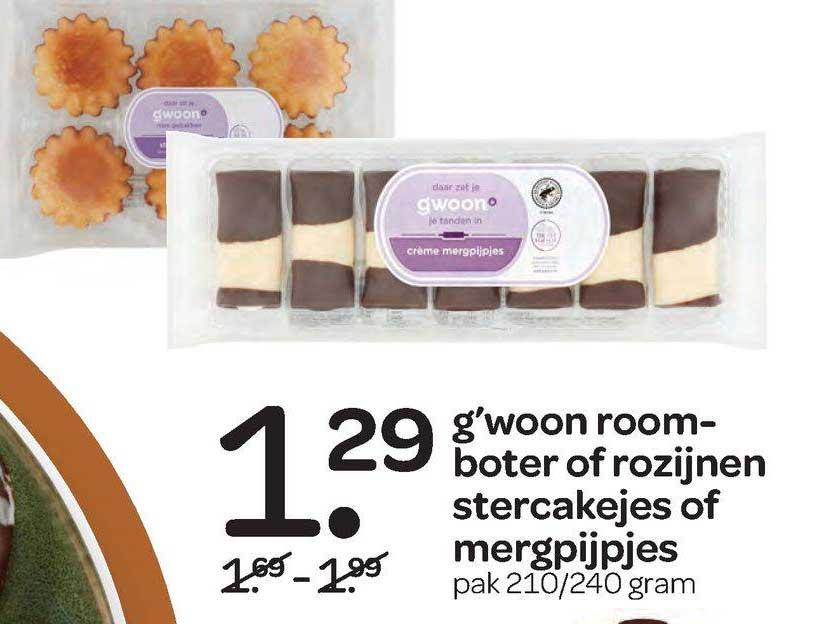 Spar G'woon Roomboter Of Rozijnen Stercakejes Of Mergpijpjes