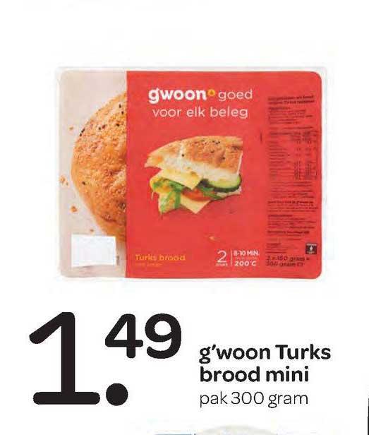 Spar G'woon Turks Brood Mini