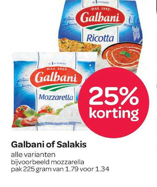 Spar Galbani Of Salakis 25% Korting