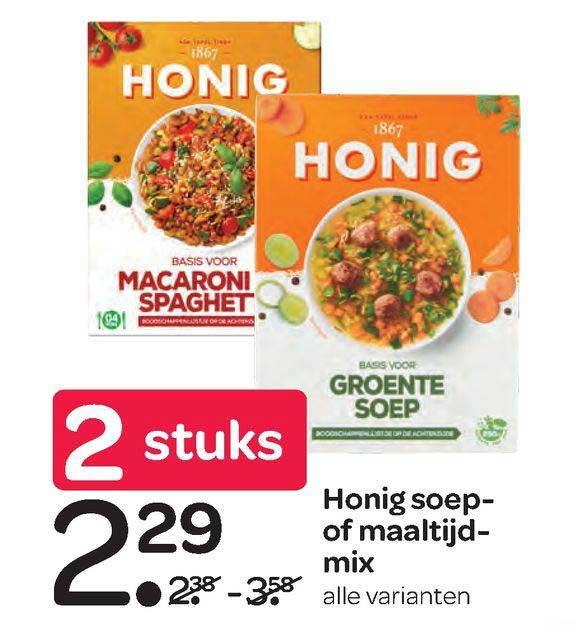 Spar Honig Soep- Of Maaltijdmix