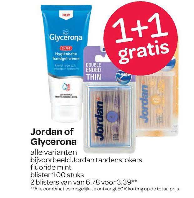 Spar Jordan Of Glycerona 1+1 Gratis