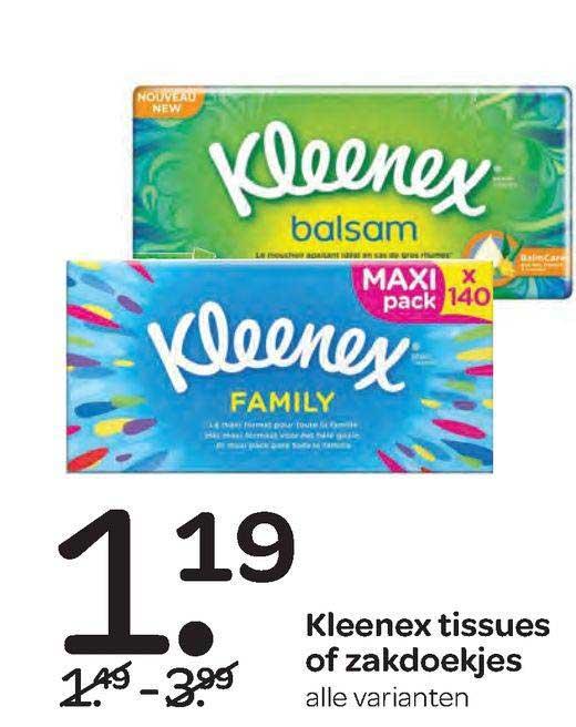 Spar Kleenex Tissues Of Zakdoekjes