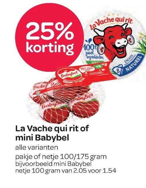 Spar La Vache Qui Rit Of Mini Babybel 25% Korting