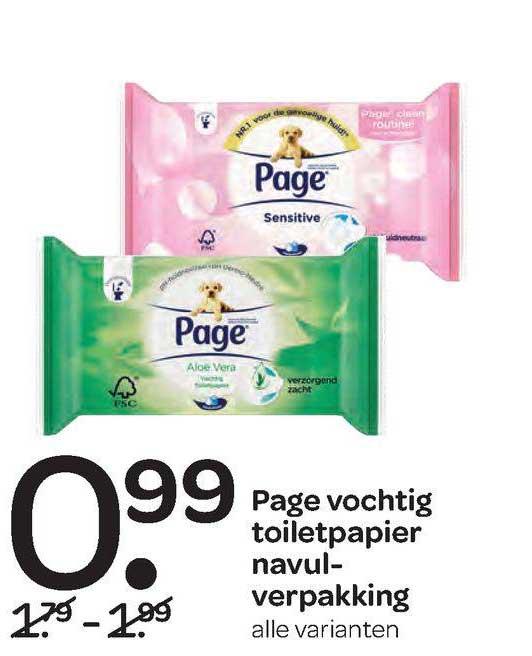 Spar Page Vochtig Toiletpapier Navulverpakking