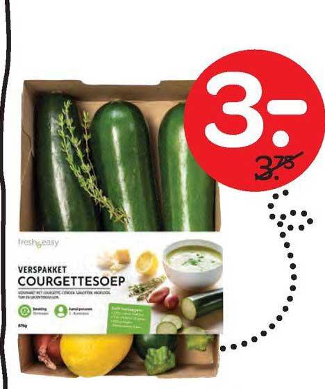 Spar Verspakket Courgettesoep