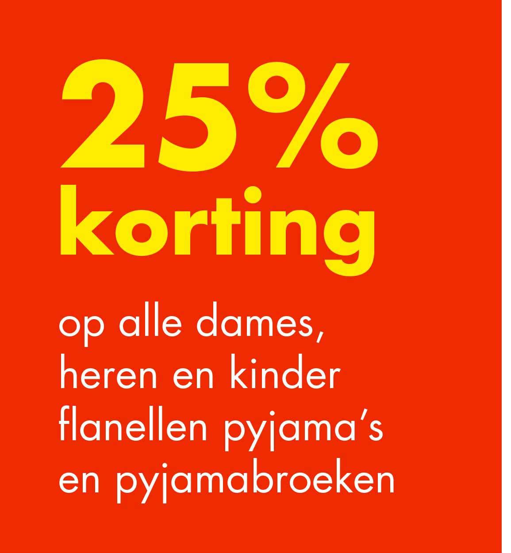 Wibra 25% Korting Op Alle Dames, Heren En Kinder Flanellen Pyjama's En Pyjamabroeken