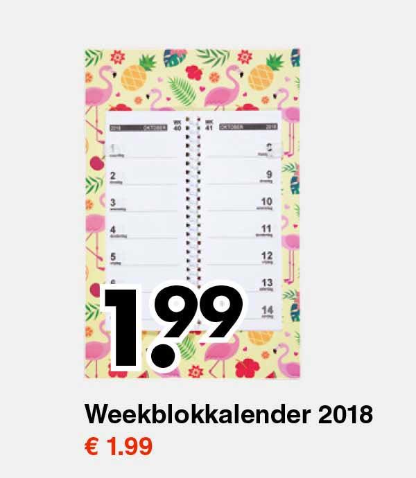 Wibra Weekblokkalender 2018