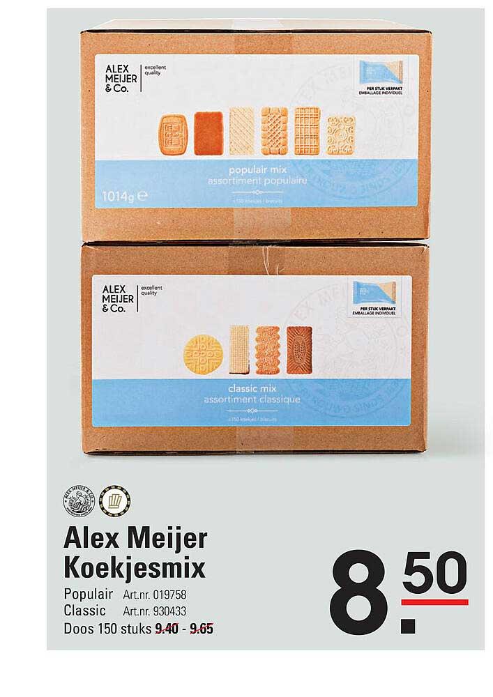 De Kweker Alex Meijer Koekjesmix Populair Of Classic
