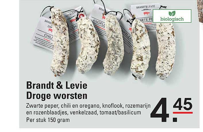 De Kweker Brandt & Levie Droge Worsten