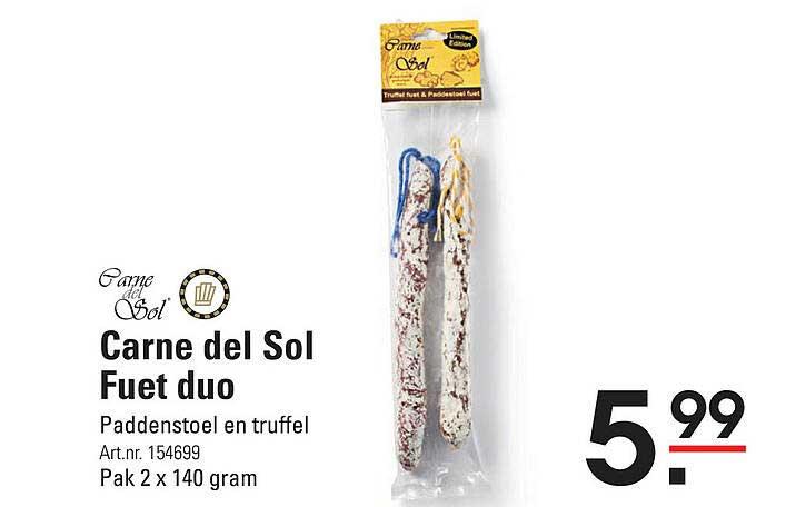 De Kweker Carne Del Sol Fuet Duo Paddenstoel En Truffel