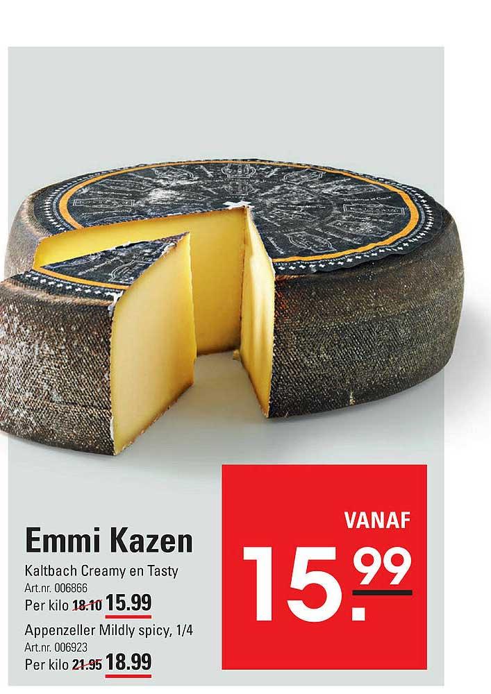 De Kweker Emmi Kazen Kaltbach Creamy En Tasty Of Appenzeller Mildly Spicy ¼