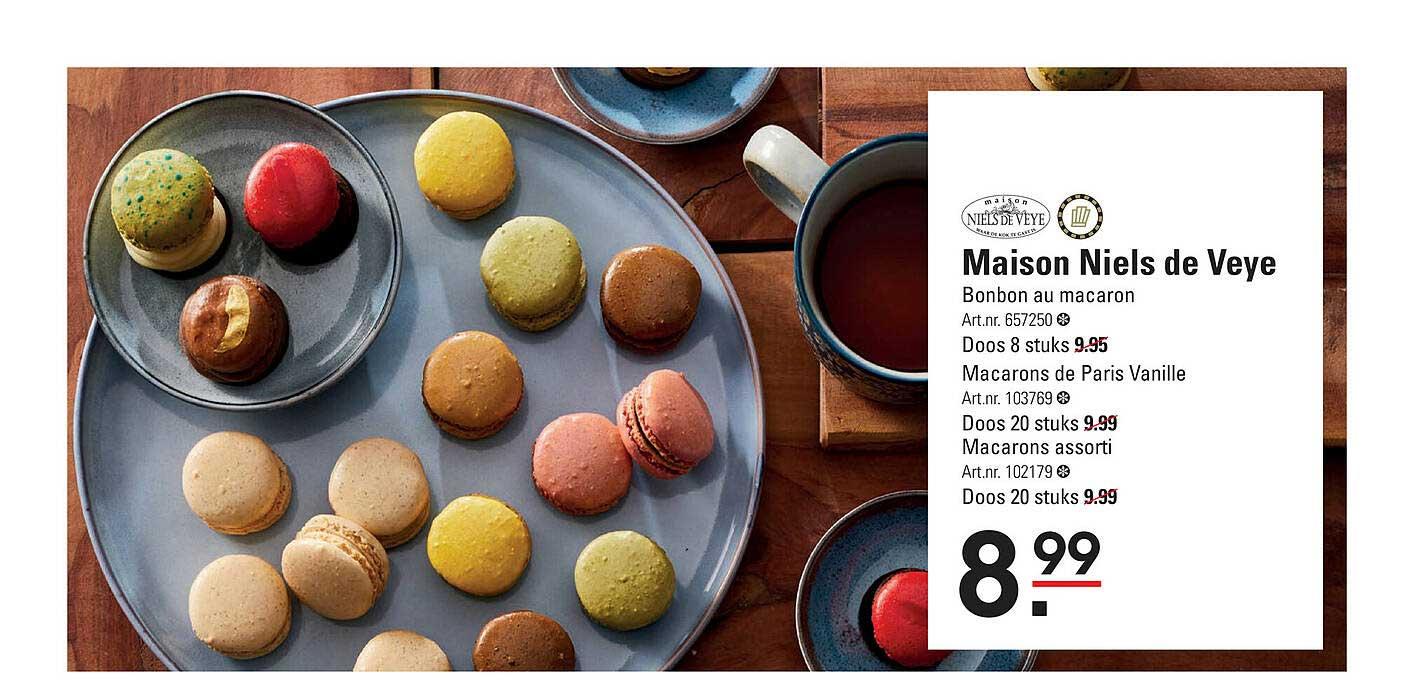 De Kweker Maison Niels De Veye Bonbon Au Macaron, Macarons De Paris Vanille Of Macarons Assorti