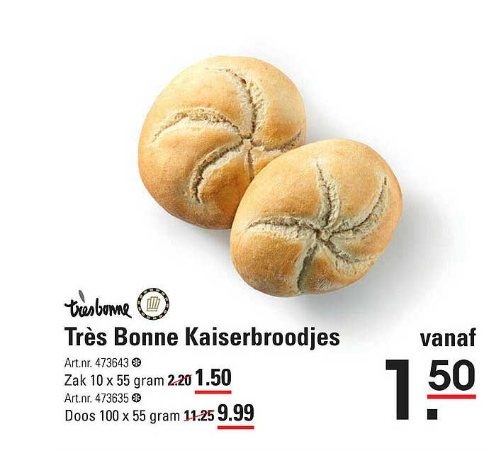 De Kweker Très Bonne Kaiserbroodjes