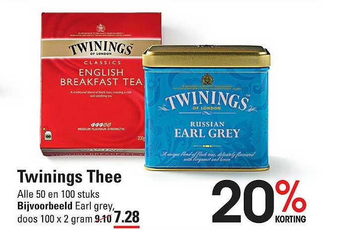 De Kweker Twinings Thee 20% Korting