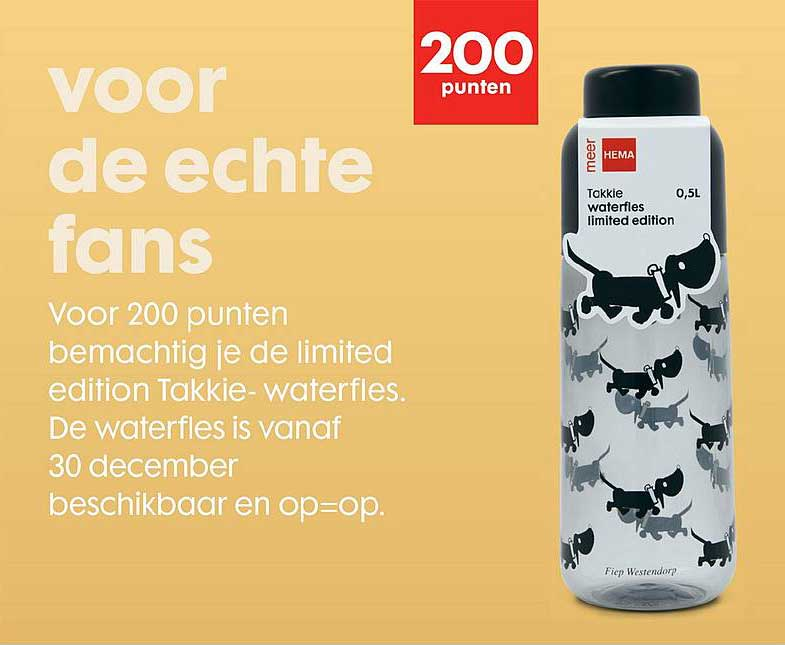 HEMA Limited Edition Takkie Waterfles