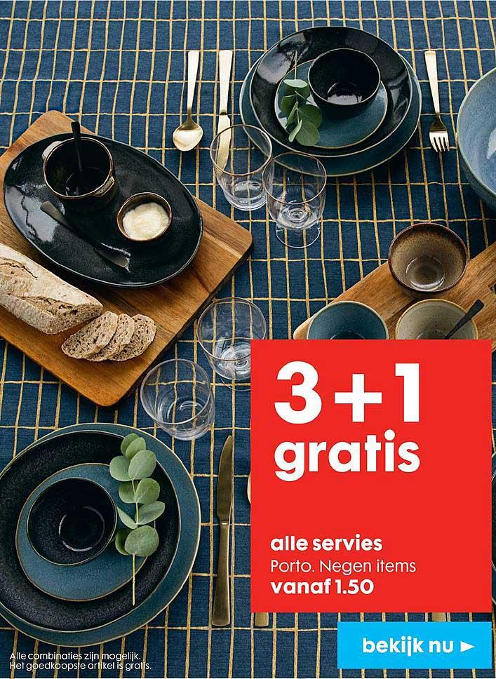 HEMA Servies Porto: 3+1 Gratis