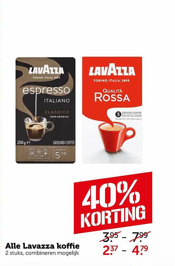 Coop Alle Lavazza Koffie 40% Korting