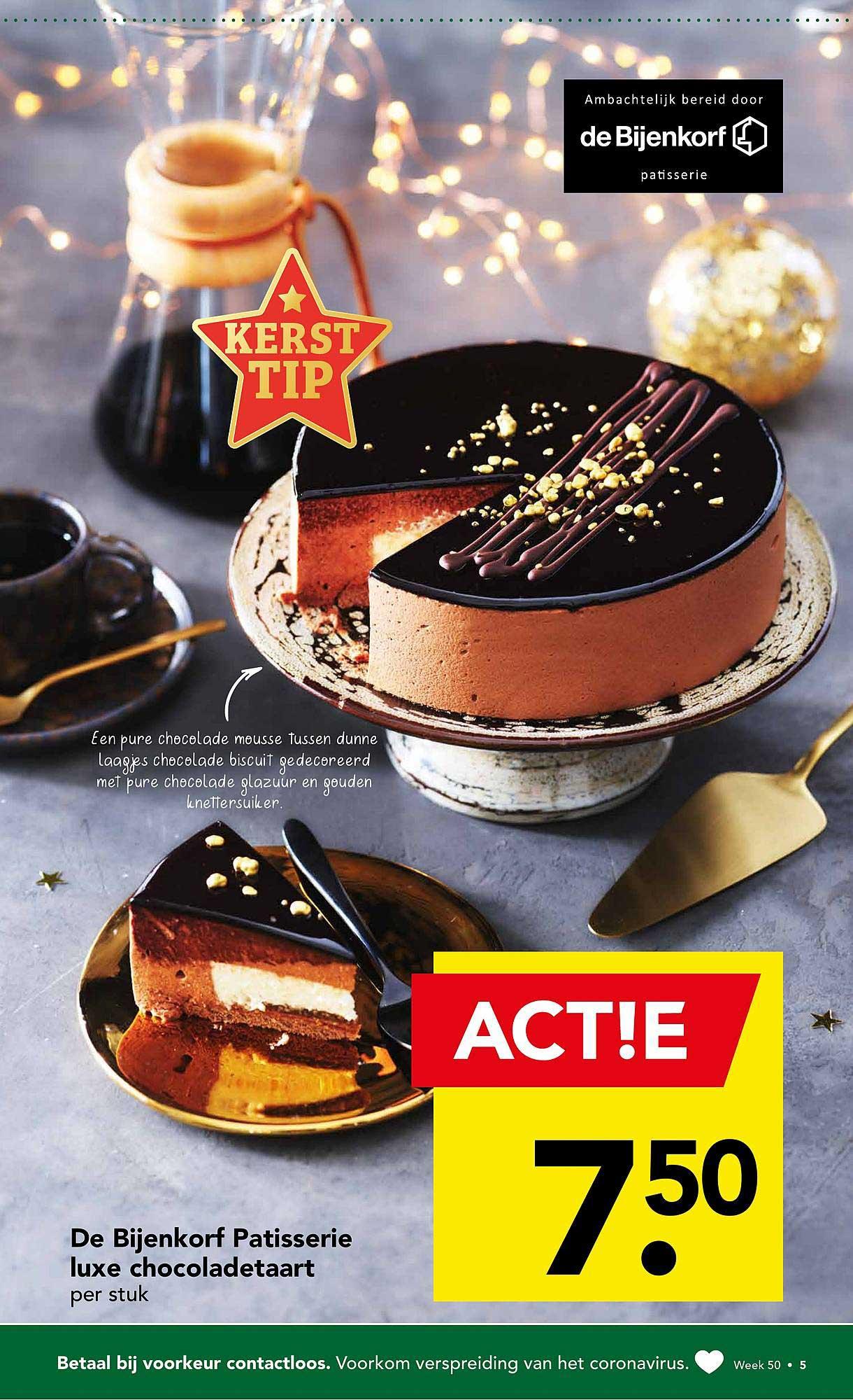 DEEN De Bijenkorf Patisserie Luxe Chocoladetaart