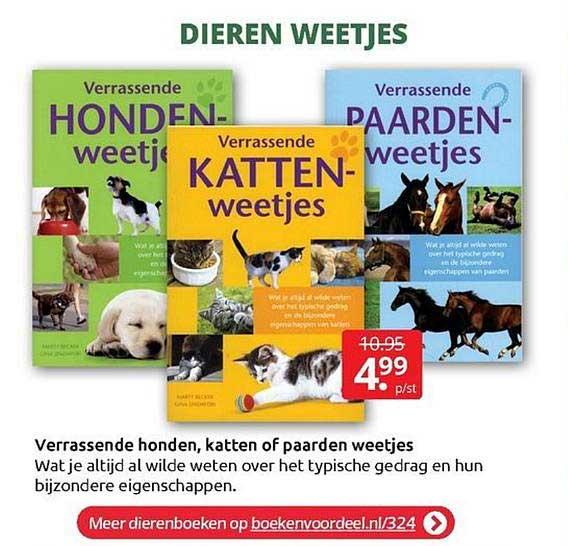 BoekenVoordeel Verrassende Honden, Katten Of Paarden Weetjes