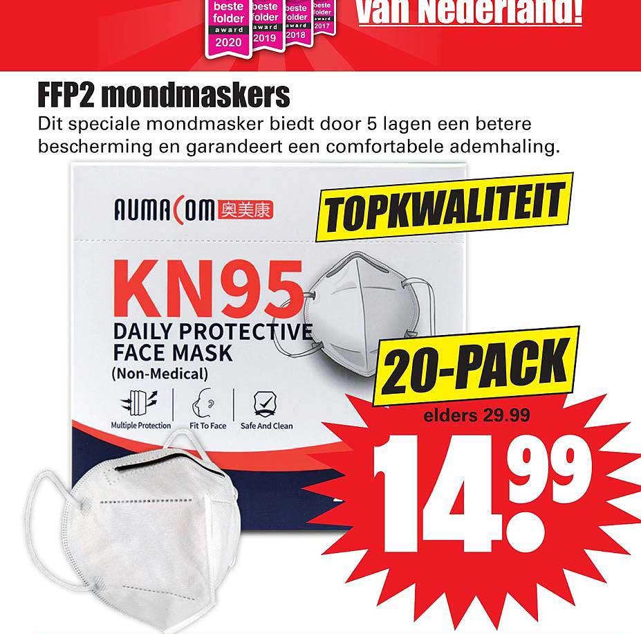 Dirk FFP2 Mondmaskers