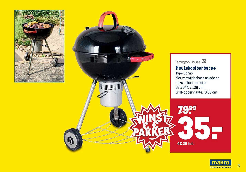 Professionele Party Houtskoolbarbecue Aanbieding bij Makro