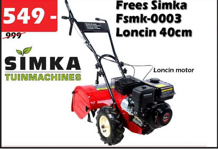 ITEK Frees Simka FSMK-0003 Loncin 40 Cm Tuinmachines