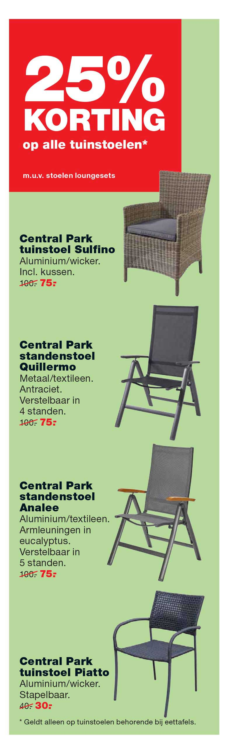Central Park standenstoel Limoux antraciet