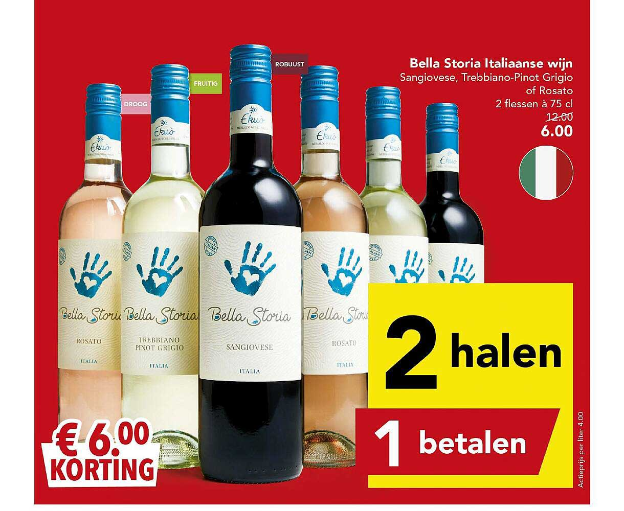 DEEN Bella Storia Italiaanse Wijn € 6.00 Korting