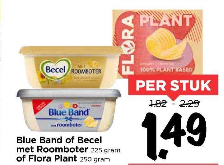 Vomar Blue Band Of Becel Met Roomboter Of Flora Plant